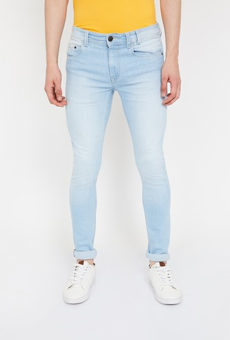 FORCA Stonewashed Super Skinny Fit Jeans