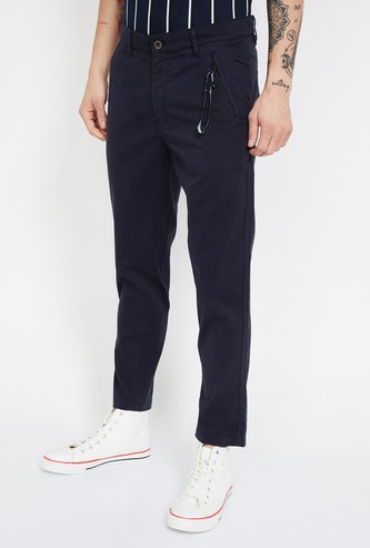 UCLA Solid Slim Fit Trousers