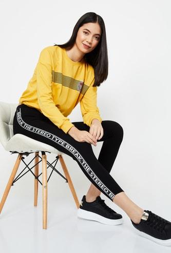 SMILEY  WORLD Printed Round Neck Regular Fit Sweatshirt