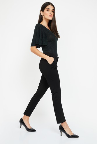 XPOSE Solid High-Rise Trousers