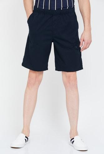 T-BASE Solid Regular Fit Shorts