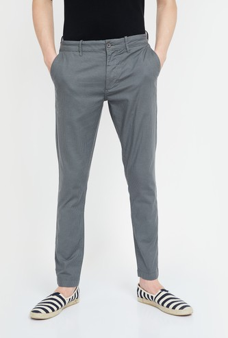 CODE Textured Slim Fit Trousers