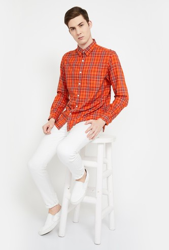 CODE Checked Slim Fit Casual Shirt