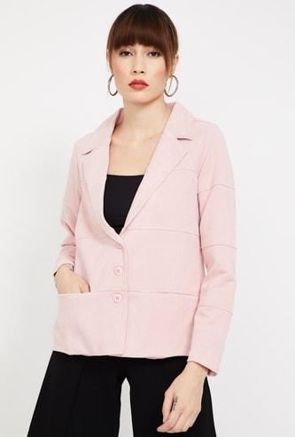 BOSSINI Textured Regular Fit Single-Breaster Casual Blazer