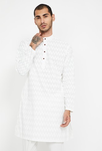 MELANGE Chevron Patterned Regular Fit Kurta