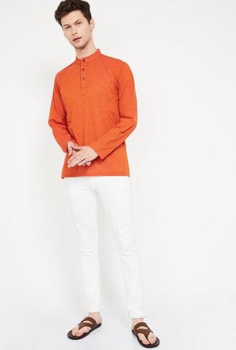 MELANGE Dobby Patterned Shirt Kurta