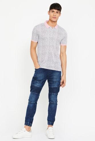CODE Printed Regular Fit Polo T-shirt