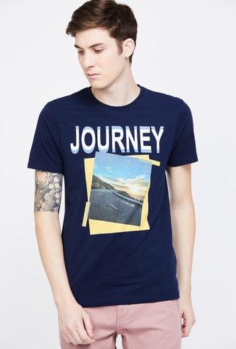 FAME FOREVER Printed Short Sleeves Crew Neck Regular Fit T-shirt