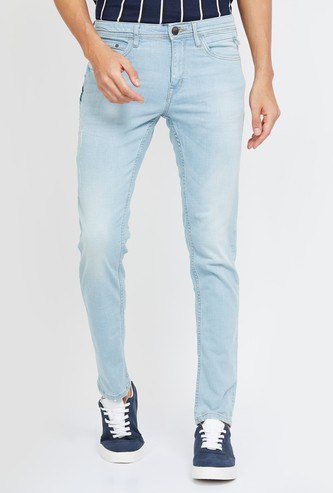 FORCA Stonewashed Skinny Fit Jeans