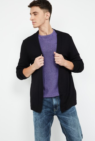 FORCA Solid Knitted Cardigan