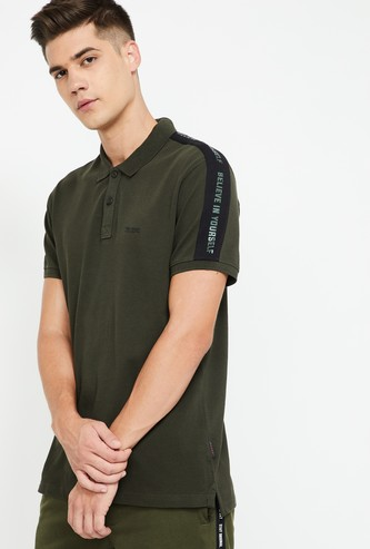 KAPPA Panelled Regular Fit Polo T-shirt