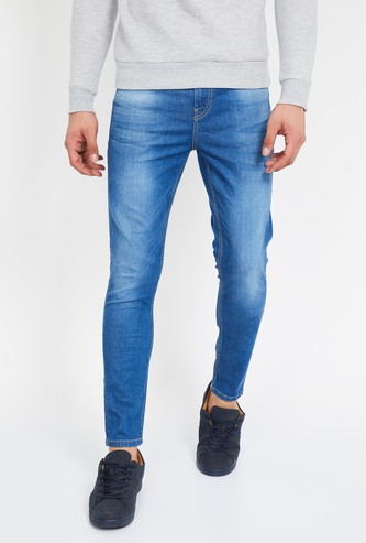 BOSSINI Lightly Washed Slim Fit Jeans