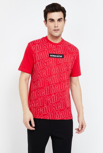 BOSSINI Typographic Print Regular Fit T-shirt