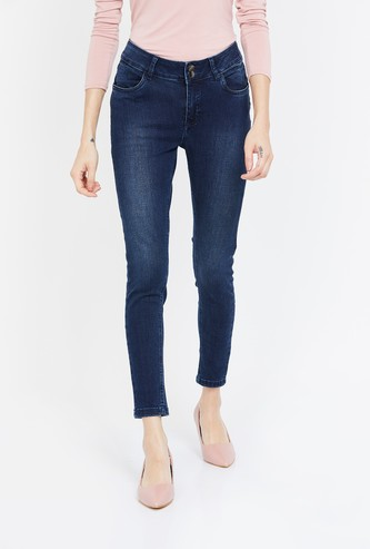 FAME FOREVER Stonewashed Skinny Fit Jeans