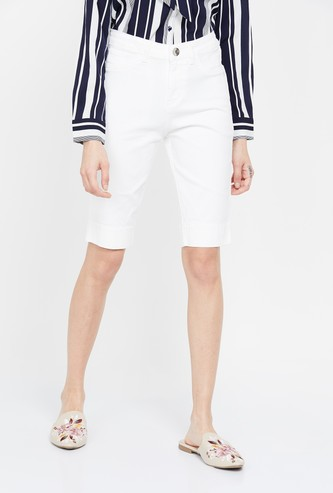 XPOSE Solid Denim Shorts