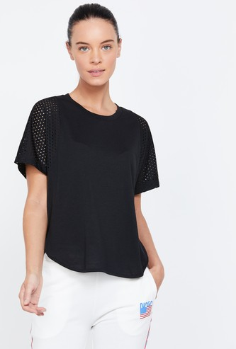 ADIDAS Solid Round Neck Regular Fit T-shirt