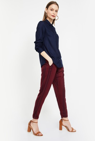 ALLEN SOLLY Solid Full Sleeves Slim Fit Shirt