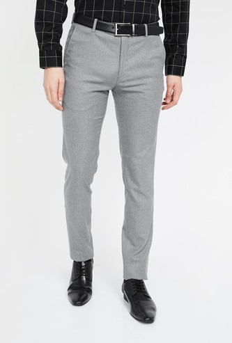 ARROW NEW YORK Textured Tapered Trousers