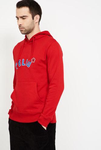 CELIO Printed Hooded Sweatshirt