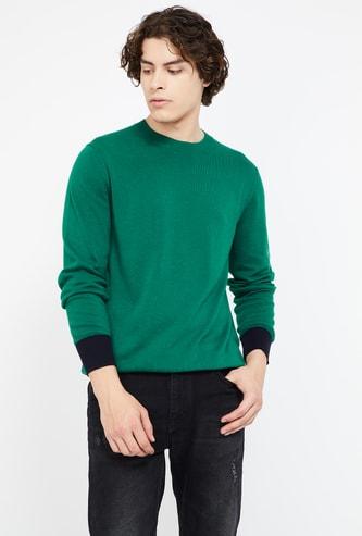 CELIO Solid Slim Fit Pullover