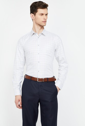 BLACKBERRYS Checked Slim Fit Formal Shirt