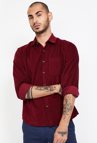 CODE Textured Regular Fit Casual Shirt