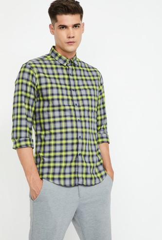 CODE Checked Full Sleeves Slim Fit Shirt