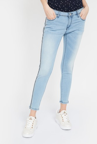LEE COOPER Lightly Washed Cropped Jeans