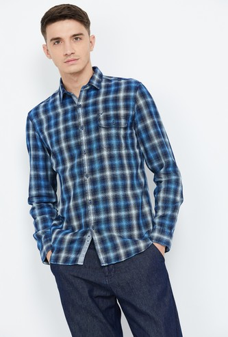 ED HARDY Checked Slim Fit Full Sleeves Shirt