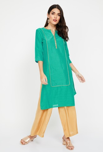 AURELIA Embellished Three-quarter Sleeves Kurta