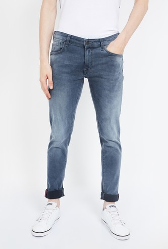 INDIAN TERRAIN Stonewashed Skinny Fit Jeans