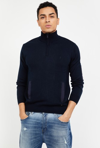 INDIAN TERRAIN Solid High-Neck Sweater