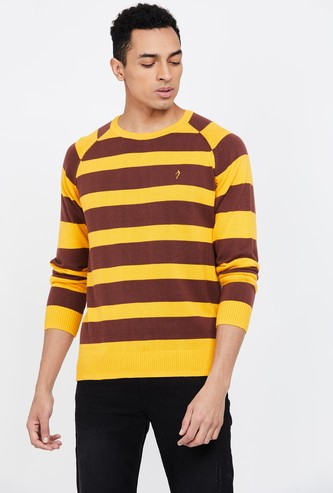 INDIAN TERRAIN Textured Regular Fit Sweater