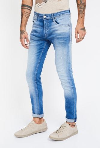 JACK & JONES Stonewashed Slim Fit Jeans