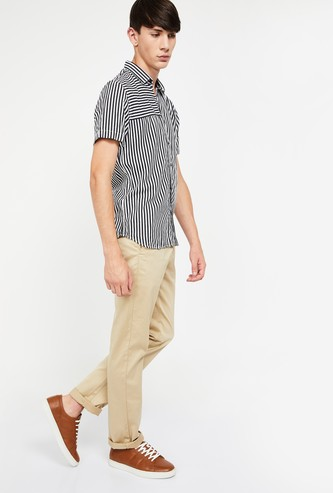 ALLEN SOLLY Solid Regular Fit Trousers