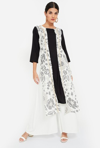 IMARA Printed Panelled Straight Kurta