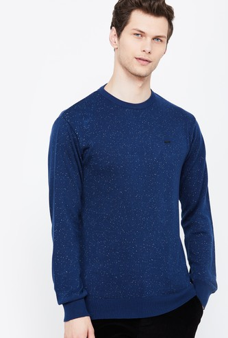 PROLINE Full Sleeves Regular Fit Sweater with Neps Detail