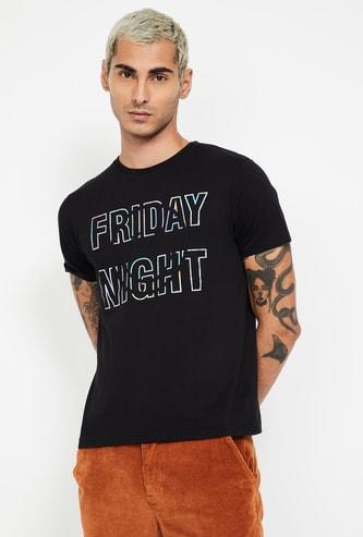 SMILEY Printed Regular Fit Crew Neck T-shirt