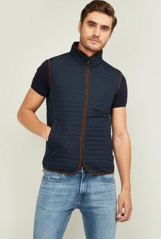 FAHRENHEIT Men Solid Sleeveless Jacket