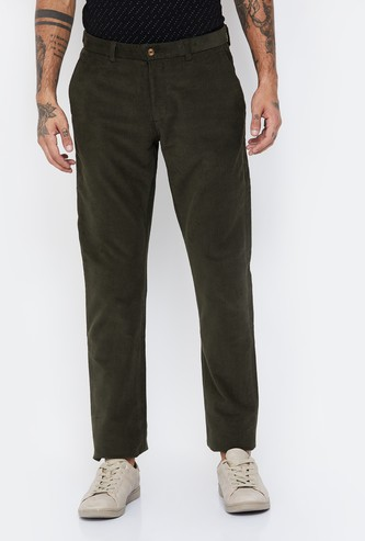 BLACKBERRYS CASUAL Textured Slim Fit Casual Trousers