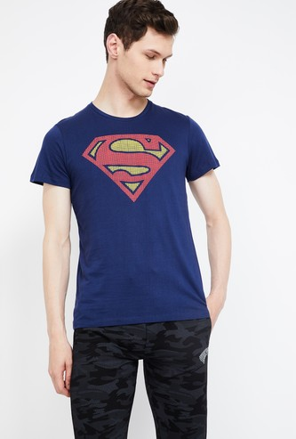FREE AUTHORITY Superman Print Slim Fit T-shirt