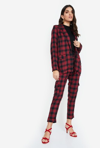 GINGER Checked Regular Fit Trousers