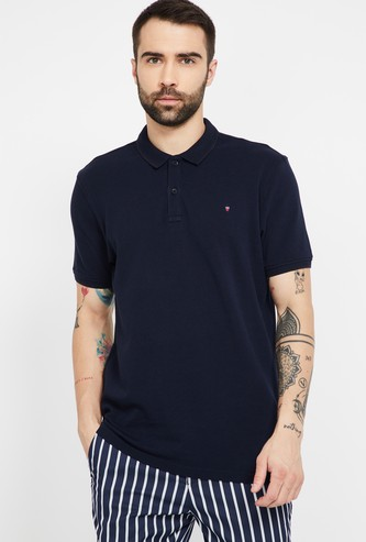 LOUIS PHILIPPE SPORT Solid Regular Fit Polo T-shirt