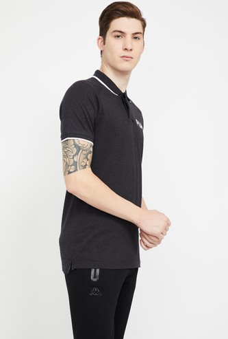 PUMA Typographic Print Regular Fit Polo T-shirt