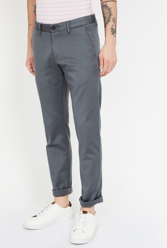 ALLEN SOLLY Solid Smart Slim Chinos