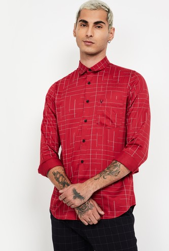 ALLEN SOLLY Printed Full Sleeves Slim Fit Shirt