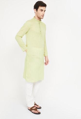 MANYAVAR Solid Kurta with Pyjama