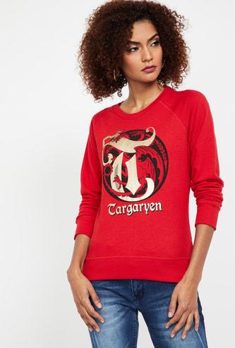 FREE AUTHORITY Game of Thrones Print Regular Fit Sweatshirt