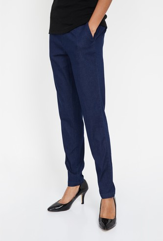 XPOSE Solid Tapered Trousers