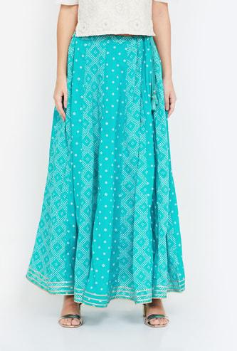 RANGRITI Printed Maxi Skirt